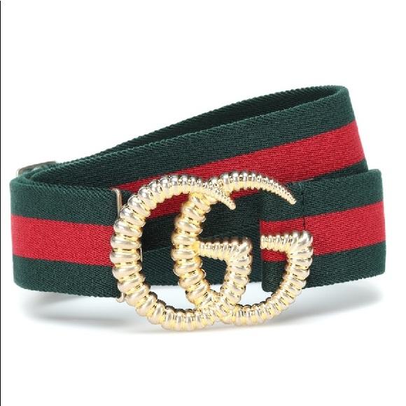 272318661 Gucci Accessories   Striped Elastic Web Belt   Poshmark